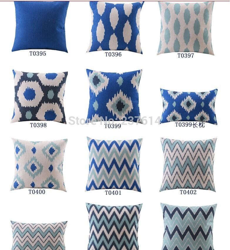Comparer les prix sur blue couches online shopping for Taie d oreiller pour canape
