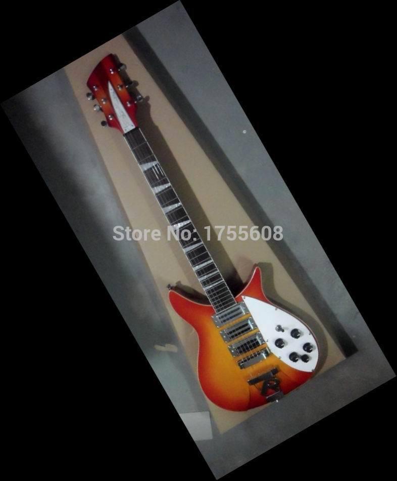 New China Guitar 6 String Electric Guitar Rick.model 325 3 pick ups Cherry 140410-0520(China (Mainland))