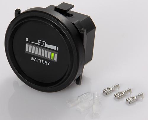 Free shipping RL-BI002 Round LED Battery Indicator 12v 24v 36v 48v 72v RV'S Golf cart scooter car boat vehicle(China (Mainland))