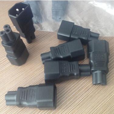 Compact Design 1 PCS IEC 320 C14 to C5 Adapter C5 to C14 AC Adapter Consumer