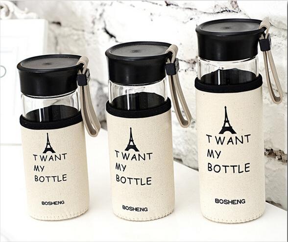 lovely my Bottle fashion sport milk lemon juice glass Mug 280ml for party club Pub bar Tea cup free shipping F-30 F-31 F-32(China (Mainland))