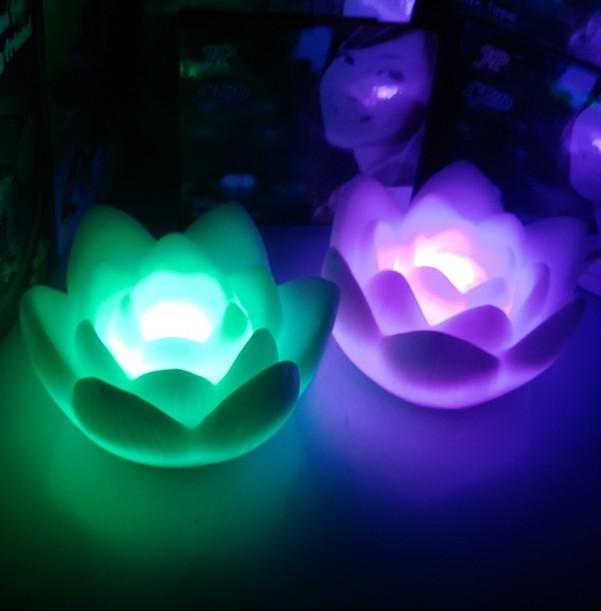 Lotus small night light wishing led small night light energy saving lamp night market lotus lamp colorful lights(China (Mainland))