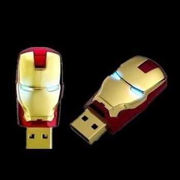 Metal Iron Man Led Light Flash Card Disk Pen Drive USB Usb Flash Drive 64GB 1TB 512GB Memory Stick Pendrives Pendrive 2TB Gift(China (Mainland))