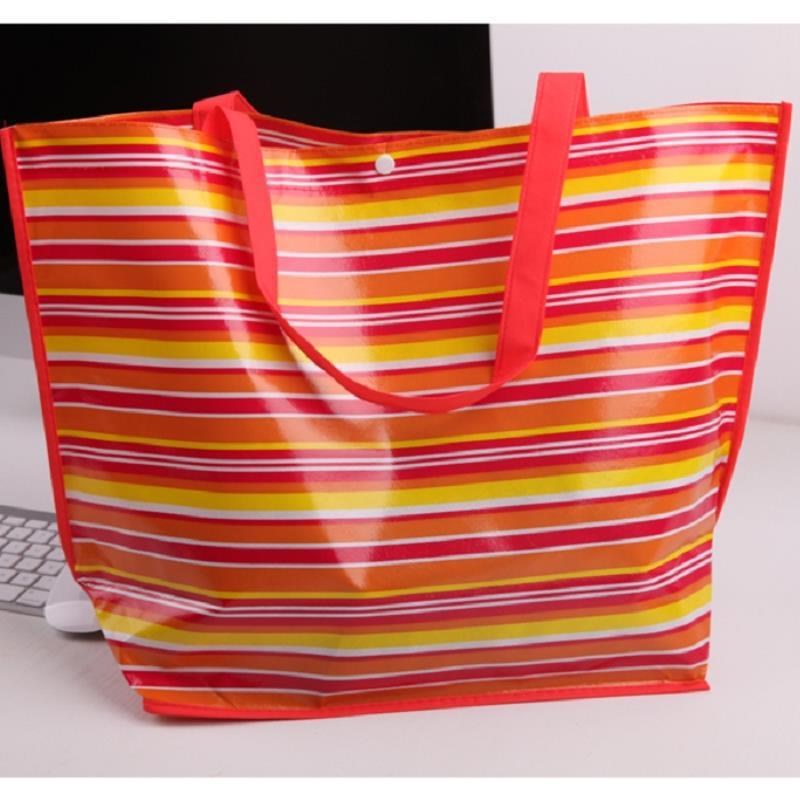 Women shopping bag sac de marque Simple fashion stripes waterproof coating Shopping cart Bag eco folding bag supermarket(China (Mainland))
