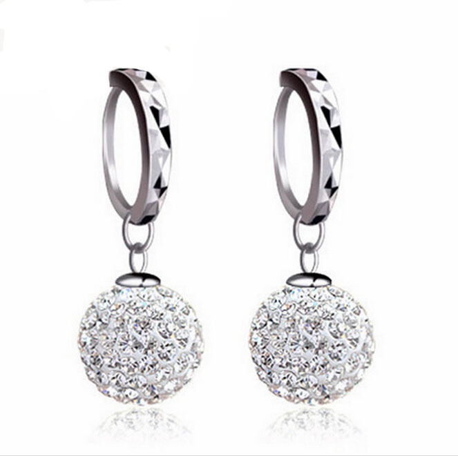 2015 New Arrival Star Ceramic Silver 925sterling Women Trendy Stud Earrings(China (Mainland))
