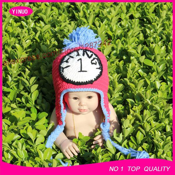 wholesale Handmade crochet Twin baby hat Baby Costume Photo Props baby beanie(China (Mainland))
