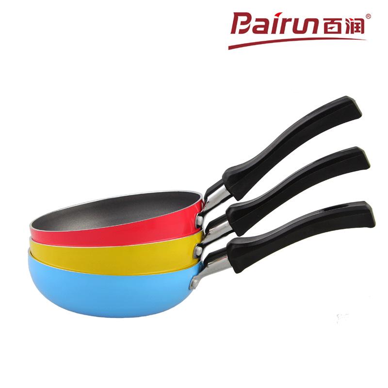 Bairun BBQ grill flat pan 13cm+16cm 2pcs Aluminum Mini Nonstick Frying Pan picnic cooking tools 3 Colors option(China (Mainland))