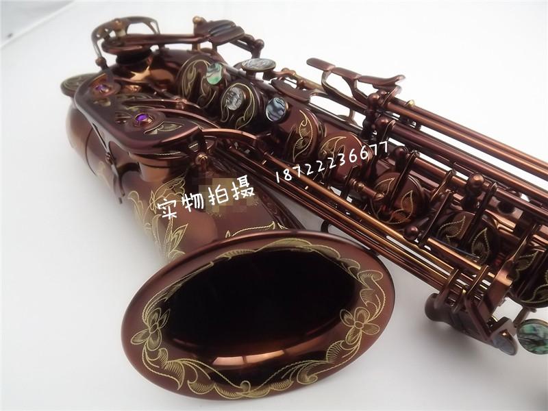 Mp3 wz-805 e alto saxophone tube musical instrument coffee Wine red(China (Mainland))