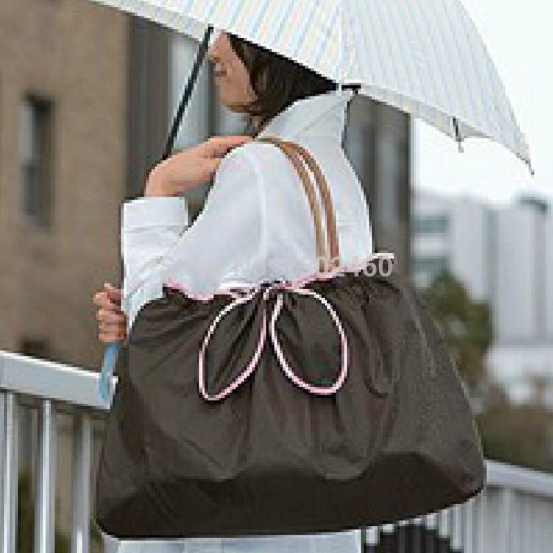 Women shopping bag sac de marque Outsourcing rain bag Shopping Tote Shopping cart Bag eco folding bag supermarket(China (Mainland))