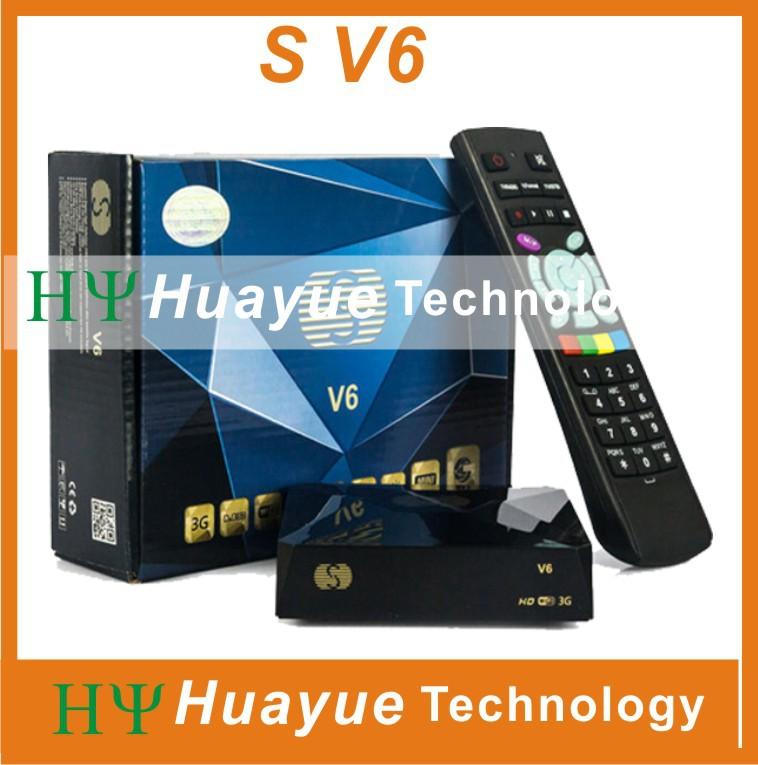 1pc Original S-V6 Mini HD Satellite Receiver Skybox V6 DVB-S2 S V6 Support CCCAMD Newcamd WEB TV USB Wifi 3G Biss Key Youporn(China (Mainland))