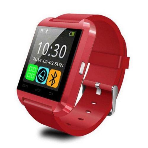 U8 Bluetooth Smart Wrist Watch Phone Mate for Android Samsung Phone red(China (Mainland))