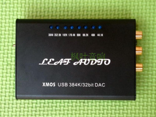 Xmos PCM5102 USB to Fiber Coax DAC HEADPHONE384KHZ 32bit Completed in Case AQ(China (Mainland))