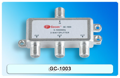 GC - 1003 high isolation cable TV signal distributor Cable TV frequency division three (1to3)(China (Mainland))