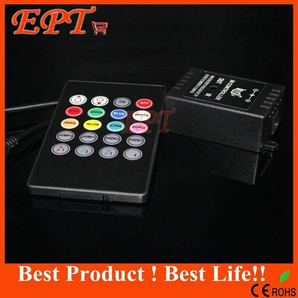 1PC Music IR Controller 12V 6A 24 Keys IR Remote Controller for 3528 5050 RGB LED Strip lights Mini Controller(China (Mainland))
