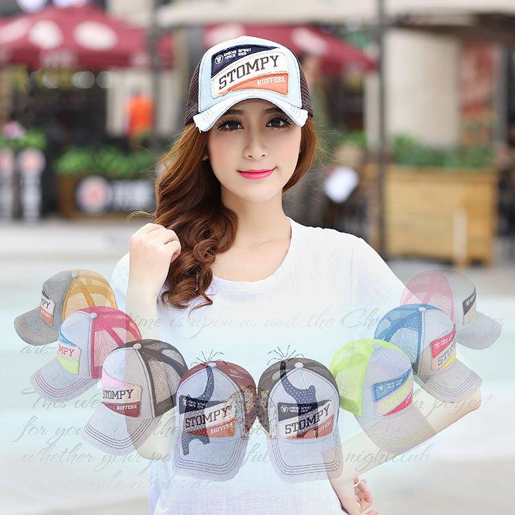 Snapback Mesh Baseball Cap Outdoor Summer Sports Hat Trucker Cap Net Cap Hiphop Visor Sunbonnet Hats For Women Truck Unisex(China (Mainland))