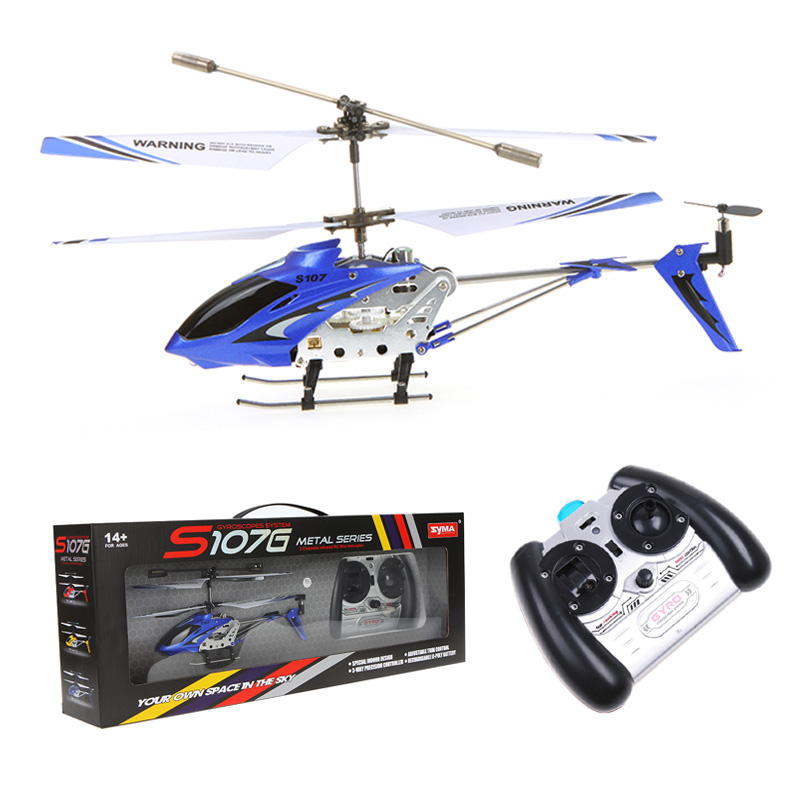 2015 New Arrive R/C Helicopter S107G Blue can flight in the dark at night Syma High quality alloy fuselage S107G(China (Mainland))