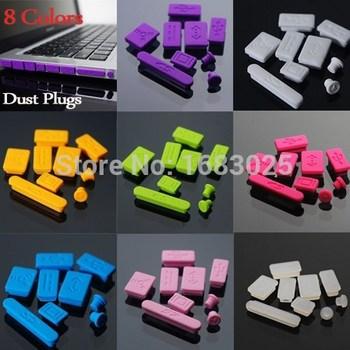 Новое 9 цветов силиконовые Anti Dust разъем порта комплект для ноутбука для Macbook Pro 13 15 новый