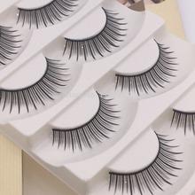 5 Pairs Lot Black Cross False Eyelash Soft Long Makeup Eye Lash Extension fashion fake eylashes(China (Mainland))