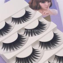 free shipping 5 Pairs Makeup Handmade Natural Long False Eyelashes Sparse Eye Lashes cross fake eyelashes