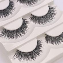 5Pairs lot Wholesale Beauty Fake Eye Lashes Black False Eyelashes Eye Lashes Famous Brand Makeup F1