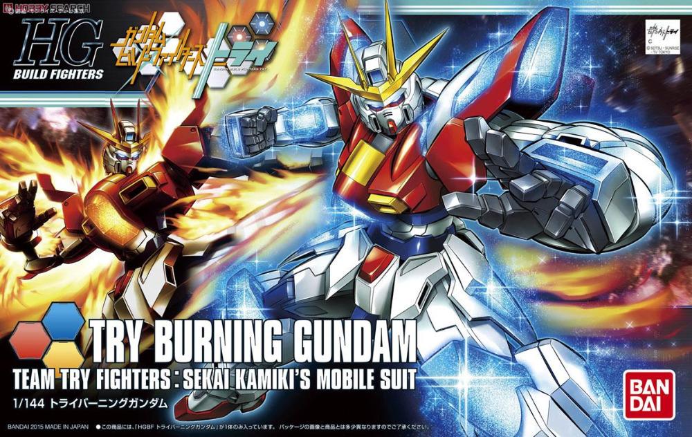 100% подлинная bandai модель 2015new / HG 1/144 HGBF сжигание попробуйте Gundam собраны модель робот model fans gundam model hg 1 144 assembly sazabi evo msn04 free shipping