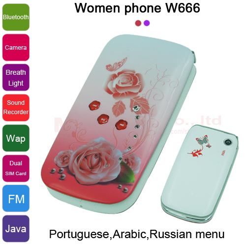 Мобильный телефон Women phone 2015 , W666 P494 мобильный телефон well phone wp 2015 wp2000g