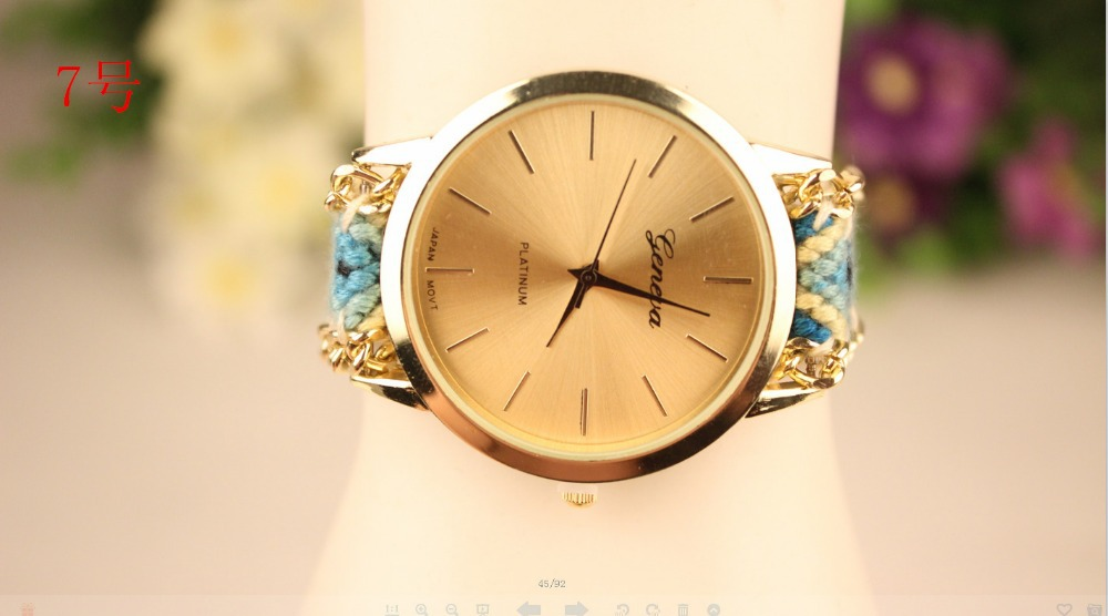 Han edition delicate DIY craft watches Geneva watches(China (Mainland))