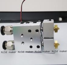 3d printer double extruder mk8 e3d v6 0.2mm/0.3mm/0.4mm nozzle kit reprap prusa i3 impressora 3d delta kosse Generall xc3d maker