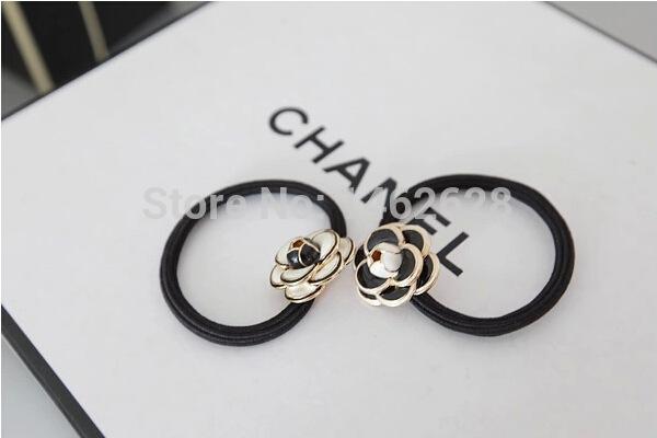 luxury brand cute flower accessories women headband girl bangs hair clips accessories Princess Style Hair rope gum rubber band(China (Mainland))