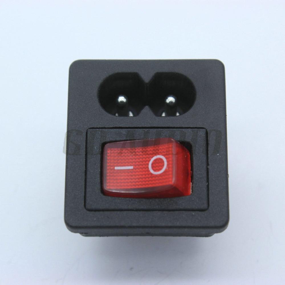 Электрическая вилка GD-PARTS IEC320 C8 250 2.5A * 50 GDPS005