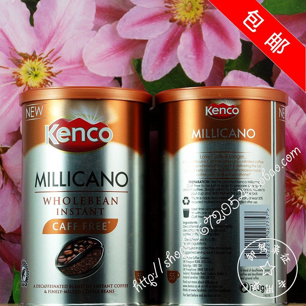 Kenco dacaff coffee beans instant coffee 100g caffeine
