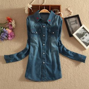 Женские блузки и Рубашки New Blusas Femininas Longa 2015 ql611/14 женские блузки и рубашки new s 5xl 2015 v femininas blusas