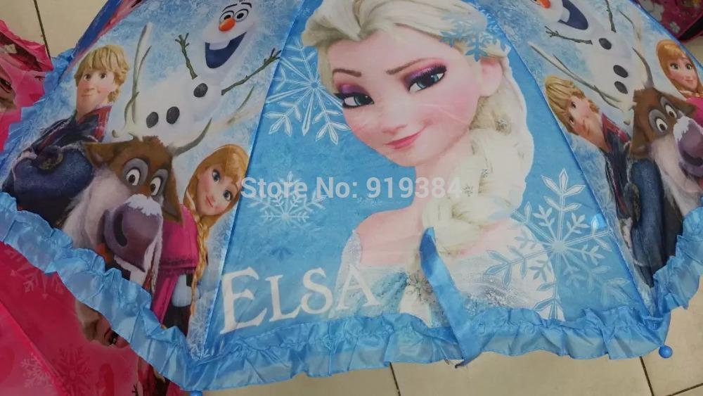 2015 Kids Cartoon Elsa Anna Princess Umbrella Students Hanging Umbrellas Sofia Kitty Dora Olaf Ben 10 Spiderman In Stock(China (Mainland))
