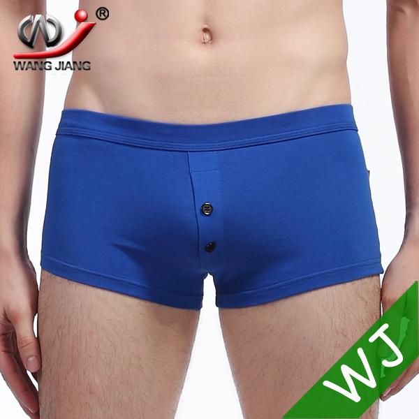 Fashion WJ men underwear calzoncillos para homens cueca boxer homens underwear homens sexy perfume polo botão azul duas contton 4010-PJ(China (Mainland))