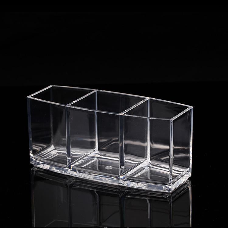 Factory direct and transparent acrylic pen boutique minimalist makeup tool storage box MF-B030(China (Mainland))