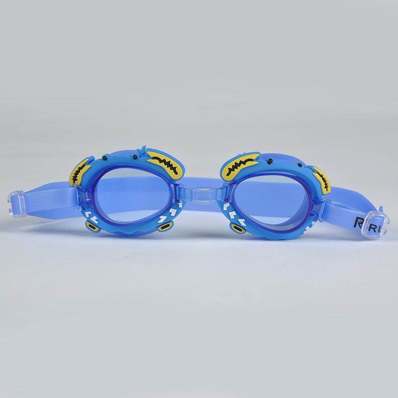 Non-toxic Silicone Swim Glasses Cute Crab Design Children Kids Swimming Glasses Swimming Eyewear Accessories Y50*HM451C02(China (Mainland))