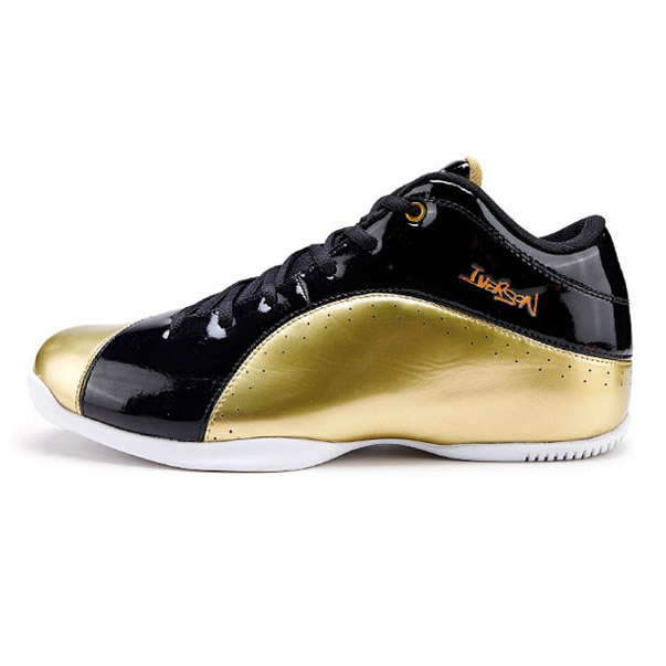 Iverson basketball shoes wear-resistant men's 1 low shock absorption sport shoes male(China (Mainland))