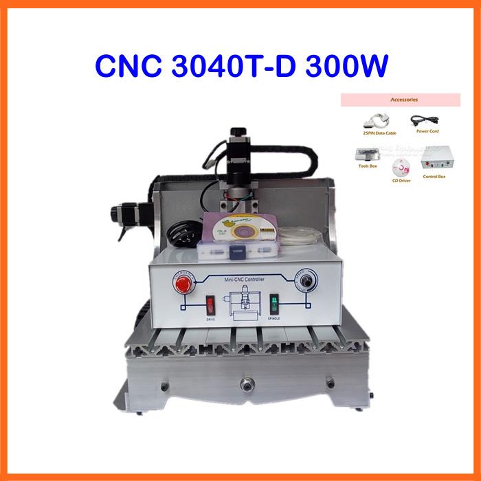 Быстроходный деревообрабатывающий фрезерный станок China brand 220/110 , 3040 t/d300 DC 300W 3040T-D300 быстроходный деревообрабатывающий фрезерный станок 6