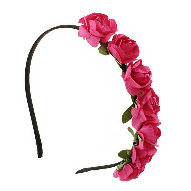 1pcs Handmade Women Headbands Paper Flowers Hairband More Colors Handbands For Bride Wedding Wear(China (Mainland))