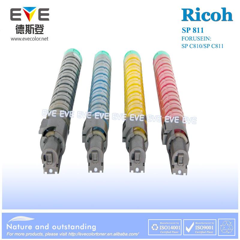 Compatiable For Ricoh SPC810 SPC811 Copier Toner Cartridge Black Bluk Color Toner Powder 4PCS/SET Free Shipping(China (Mainland))