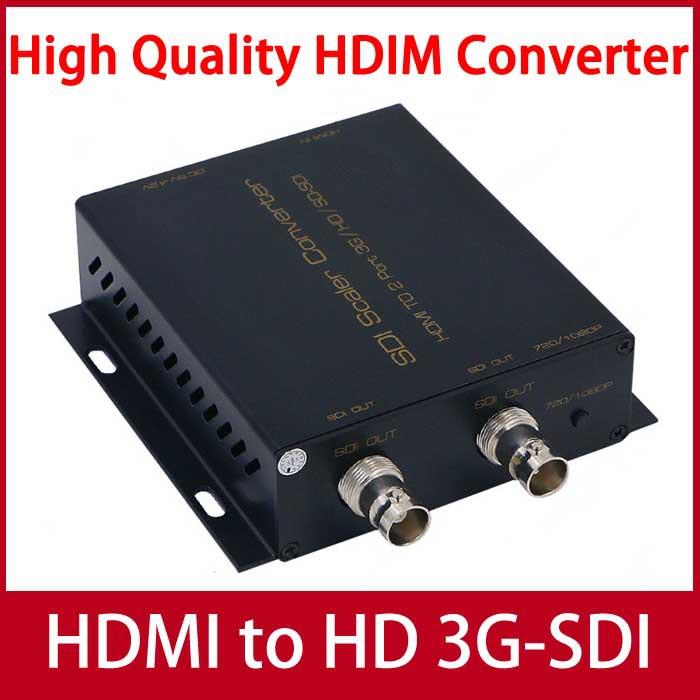High Quality HDMI to SDI Converter HDMI to 3G/HD/SD-SDI Scaler Converter( 2 SDI output)(China (Mainland))