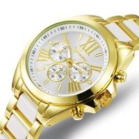 Geneva Brand Men Quartz Sports Watches Casual 6 Colors Analog gold watch Unisex Waterproof Wristwatch Cheap Price GQ801