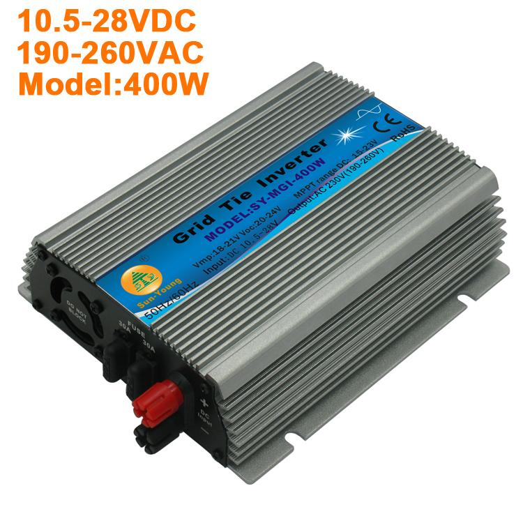 400W Solar Power Inverter Grid Tie Inverter 220V AC Output For 18V Solar Panel Free Shipping(China (Mainland))