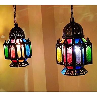 South-East Asia Style Droplight Morocco Loft Pendant Lights Bar Coffee Colored Crystal Beads Retro Lamp Ikea Lighting(China (Mainland))