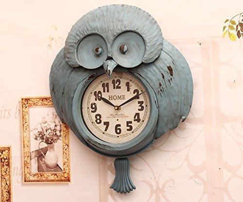 Vintage Metal Wall Clock Owl HE14T131Z(China (Mainland))