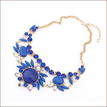 8 Colors New 2015 Fashion Jewlery European Acrylic Lab Gemstone Collars Necklace Pendant Choker Jewelry Bijoux