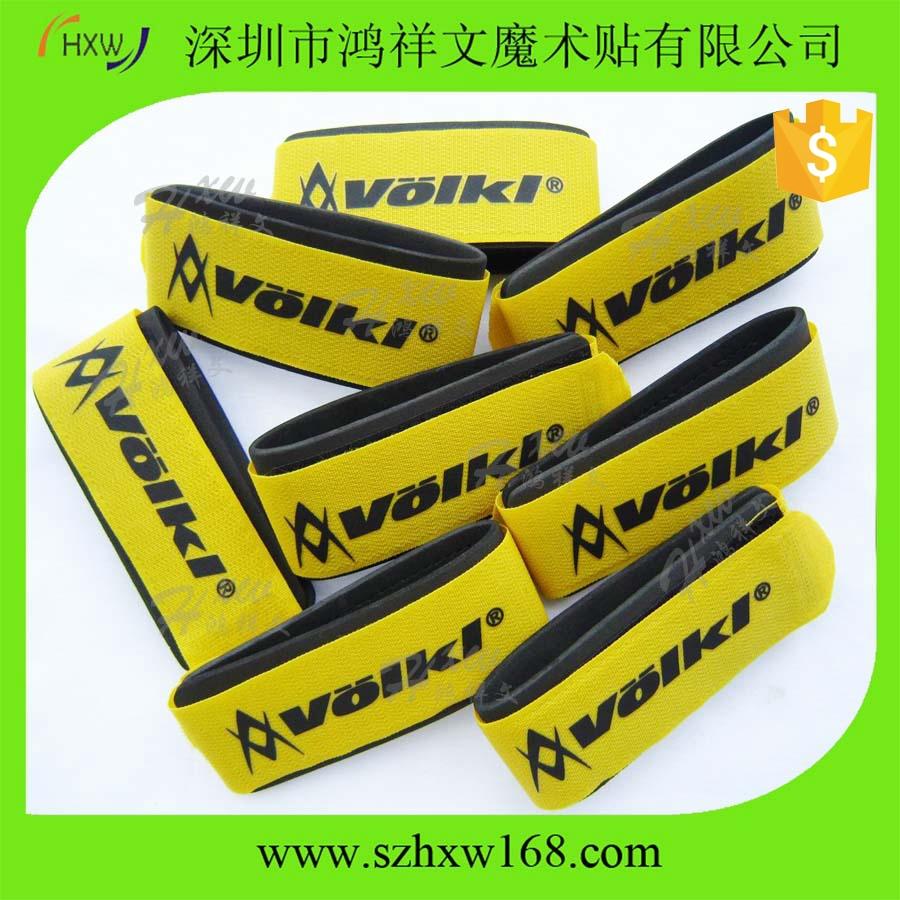 50*460mm custom logo printed velcro ski strap/adjustable ski ties/Alpine ski binding(China (Mainland))