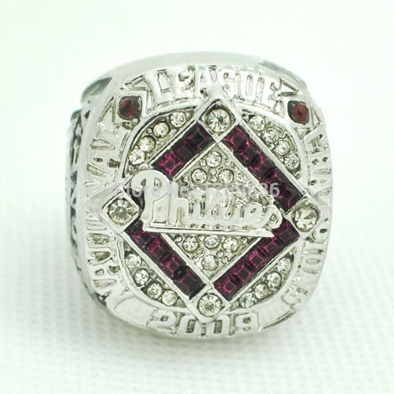 Fans Ring Platinum NL 2009 Philadelphia Phillies National League Baseball Championship Ring,Custom Championship Ring(China (Mainland))