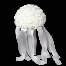 mode handgefertigte strass perlen brosche kunstseide hochzeit blumenstrauß für brautjungfer Braut braut(China (Mainland))