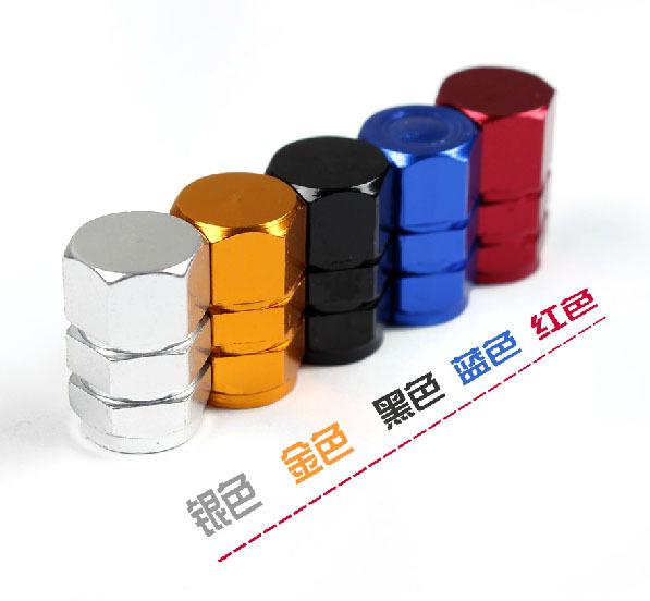12Pcs/lot Universal Auto Bicycle Car Tire Valve Caps Tyre Wheel Hexagonal Ventile Air Stems Cover Airtight rims Accessories(China (Mainland))